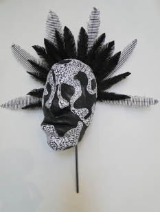 African inspired mask made out of paper