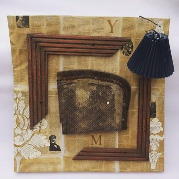 Assemblage and book collage